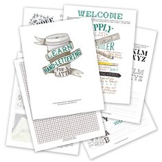 This hand-lettering worksheet set will teach you basic alphabet forms and concepts for the price of a latté. No special tools needed -- enjoy!