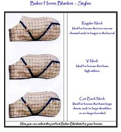 Types Of Neck Lines For Horse Blankets