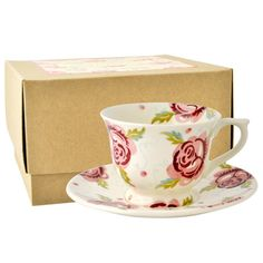 Emma Bridgewater Rose & Bee small teacup & saucer