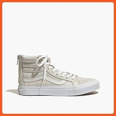 on sale 8b96a 853c5 VANS Old Skool Sk8-HiTop Slim Zip Skate Sneakers Shoes White Crackle -  Sneakers for
