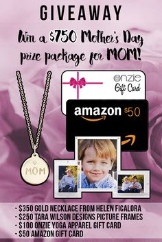 Enter to WIN a $750 prize package for MOM or someone special in your life! Easy entry! Enter at CloudMom.com!