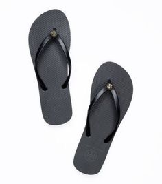 36d30d0b9a1704 TORY BURCH New Black - Black Sole - Tory Burch Flip Flops Flat Flop Beach  Sandals