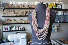 Nothing goes to waste when you're crafty!  GT: Upcycled T-Shirt Scarf #DIY #crafty @theyellowpostcard