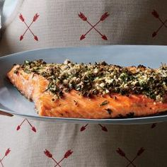 Roasted Salmon with Dill, Capers, and Horseradish | MyRecipes.com Cooking Light