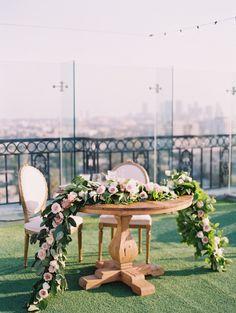 big city wedding reception decor