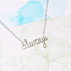 jewelry | Home > Jewelry > Fandom / Harry Potter Jewelry > Always Necklace ...