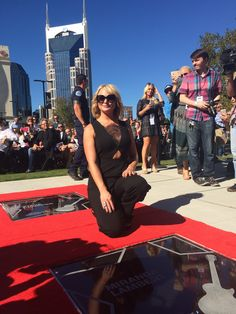 Miranda Lambert receiving her star on the Music City Walk of Fame on October 6, 2015. #Nashville #MusicCity #MusicCityWalkofFame