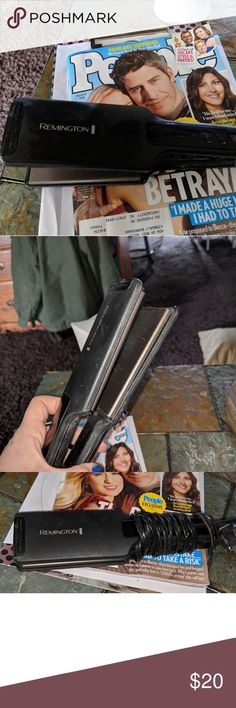 Remington straightener Remington flat iron heats up to 470 with long cord it's for longer thicker hair. I cut my 13in off my hair and just can't use it anymore but it was good to me it was a great straightener. Remington Accessories Hair Accessories
