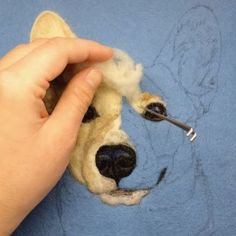 "Such a brilliant felting artist. A unique way of ""painting "" with wool. Dani Ives Such a brilliant felting artist. A unique way of painting with wool. Needle Felted Animals, Felt Animals, Felt Pictures, Felt Roses, Needle Felting Tutorials, Wool Art, Dog Crafts, Felt Hearts, Wet Felting"