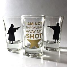 3 PACK Hamilton Broadway Musical Shot Glass Set by MindAtWerk