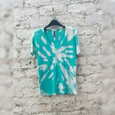 Tie Dye Tshirt in Aqua to fit UK size 12 or US size by AbiDashery