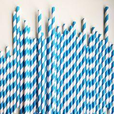 Blue Stripe Paper Straws – The Sweet Hostess