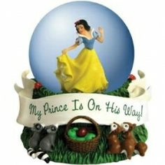 Disney Princesses Prince On His Way Snow White Waterglobe