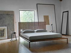 Twine Bed / Design: Matteo Thun & Antonio Rodriguez and Horm, available from M Square Lifestyle Necessities Italian Furniture, Luxury Furniture, Bedroom Furniture, Furniture Design, Bedroom Interiors, Contemporary Bedroom, Contemporary Furniture, Double Bed Designs, Bedside Table Design