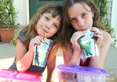 Back to school with EasyLunchboxes and Capri Sun - Clear bottoms │ Family Fresh Meals