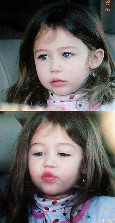 Miley Cyrus when she was cute