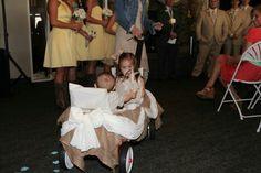 The ring bearer and flower girl's wagon.....my grandchildren :-)