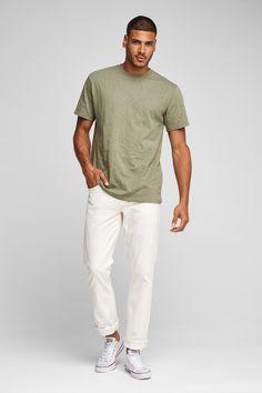 Hudson Jeans Blake Slim Straight Twill Jean - Off White 36 White Chucks, Hudson Jeans, Off White, Slim, Mens Tops, T Shirt, Fashion, Supreme T Shirt, Moda