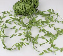 20m Artificial flor verde Hojas Rattan DIY Garland accesorios para la decoración casera(China (Mainland))