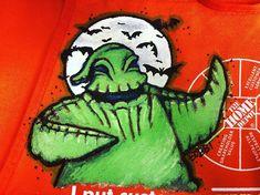 "Bobbi Johnson on Instagram: ""Oogie Boogie 👻 #oogieboogie #nightmarebeforechristmas #fanart #homedepotapronart #blissfullyraddesigns #blissfullyrad #halloweenart"" Home Depot Apron, Oogie Boogie, Apron Designs, Halloween Art, Nightmare Before Christmas, Aprons, Fanart, Artist, Fun"