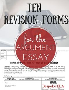 Argument Writing  WriterS Workshop Version For Middle School