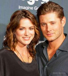 """Danneel and Jensen Ackles at """"SyFy and Entertainment Weekly Celebrate Comic Con on July 2010 Supernatural Poster, Jared Padalecki Supernatural, Jensen Ackles Jared Padalecki, Supernatural Sam, Supernatural Seasons, Jensen Ackles Family, Jared And Jensen, Smallville, Dean Winchester"""