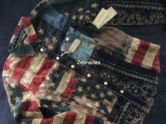 8e06db7503 Ralph Lauren Denim   Supply Women s American Flag Stars Bandana USA Shirt  Size M