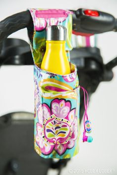 Accesorios Bicicleta Bike Accessories New Ideas Fabric Crafts, Sewing Crafts, Sewing Projects, Diy Projects, Bike Cup Holder, Cup Holders, Easy Toddler Crafts, Easy Crafts, Sewing Hacks