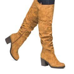 "Leila Stone, Woman's Boots Leila Stone, woman's boots, FauxLeather, Brand New Original packaging, size 7,  2"" Heel, chunky heel, knee high Zella Shoes Heeled Boots"