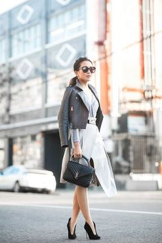 Moody Grays :: Cropped jacket & Wrap skirt