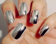 Maybelline Mirror Image nail polish.  This is cool!