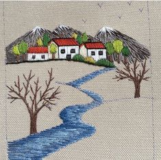 Hand Embroidery, Embroidery Designs, Hand Stitching, Cross Stitch, Greeting Cards, Photo And Video, Painting, Instagram, Montages