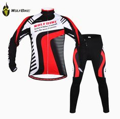54.88$  Buy now - http://alilf4.worldwells.pw/go.php?t=32245373622 - WOLFBIKE Winter Warm Fleece Bicicleta Ropa Ciclismo Thermal Bike Cycle Padded Clothing Bicycle Cycling Jersey Suit