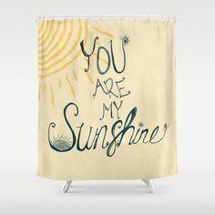 You Are My Sunshine Bathroom Kids Bath Shared Shower Curtains
