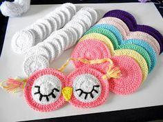 Firefly Crochet by Chieu: Sleepy Owl sleeping mask - Mặt nạ cú đi ngủ (pattern)