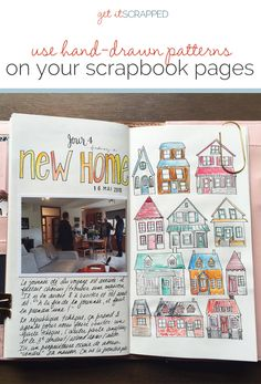 Ideas for Creating Hand-Drawn and Hand-Painted Patterns to Use on Your Scrapbook Pages | Get It Scrapped