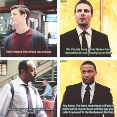Arrow #2.2 vs. The Flash #1.4 - Oliver, Diggle, Barry and Joe