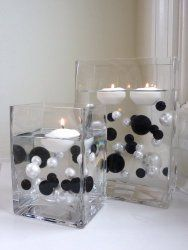 black and white centerpiece ideas - Google Search