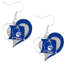 Duke Blue Devils Women's Swirl Heart Earrings