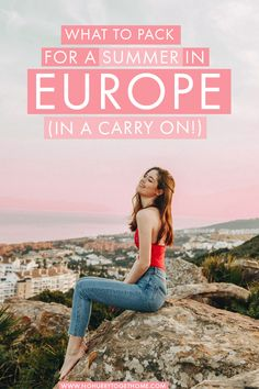 Europe Travel Inspiration The perfect packing list for a summer in Europe (and how to fit it all in carry-on!) + what to leave behind, and all my carry-on packing hacks! Packing For Europe, Packing List For Travel, Europe Travel Guide, Packing Tips, Packing Checklist, Summer In Europe, Summer Travel, Carry On Packing, Suitcase Packing