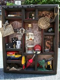 All the Things You Love - Altered Art Shadow Box