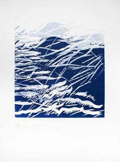 Sea Spasm by Naoko Matsubara - Azuma Gallery Naoko, Printmaking, Tapestry, Sea, Gallery, Artist, Artwork, Prints, Carving