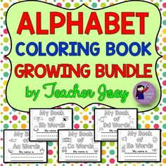 This alphabet coloring book is a growing bundle. I will include two letters every week.   As this bundle grows, the price will increase as well. So purchase this now to save! :)  It will include all 26 letters of the alphabet plus blends and digraphs. The coloring pages have images and words plus simple sentences for beginning readers to read. I also included a page in which your students can match the image with the word.