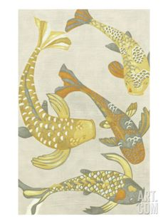 Golden Koi I Art Print by Chariklia Zarris at Art.com