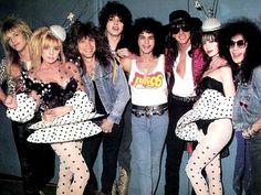Cinderella with Jon Bon Jovi and Richie Sambora during a video shoot for Cinderella-80s