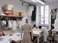 ITALY. Rome. 2012. Valentino atelier. A team of seamstresses.