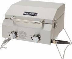 Outdoor 2-Burner Portable Propane Gas Table Top Grill in Stainless Steel #grill