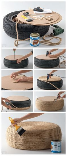 pneu-1 Diy Accessoires, Cattery, Cat Furniture, Boho Decor, Straw Bag, Diy And Crafts, Kitten, Projects To Try, Duvet