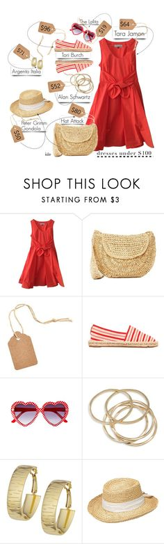 """Budget Conscience Sunday"" by kateo ❤ liked on Polyvore featuring Tara Jarmon, Hat Attack, Tory Burch, Joanie, ABS by Allen Schwartz, OMEGA, Peter Grimm, under100 and 6509"