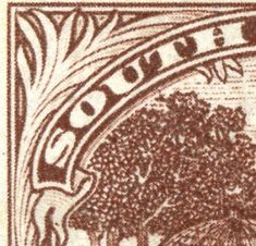 """1927 Scott brown & blue green """"Trekking"""" Into the Deep Blue The second post- Part II- for the Union of South Africa will c. Union Of South Africa, South Afrika, Deep Blue, Animal Print Rug, Blue Green, Two By Two, Stamps, Big, Seals"""